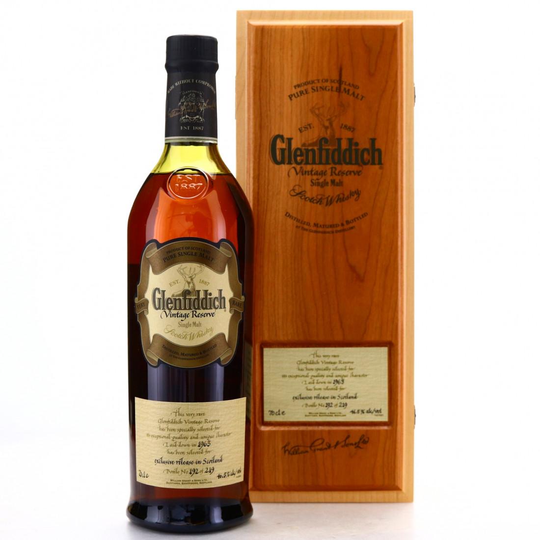 Glenfiddich 1963 Vintage Reserve #12730 / Scottish Exclusive