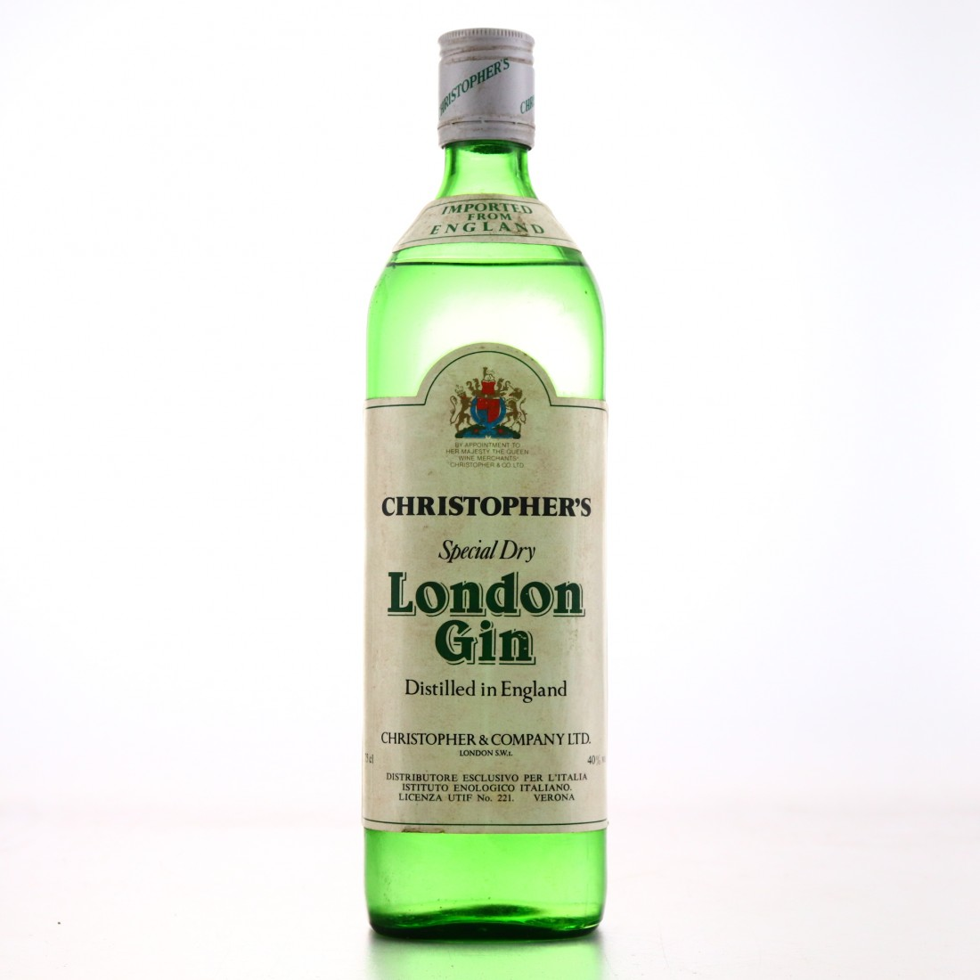 Christopher's Special Dry London Gin 1960s
