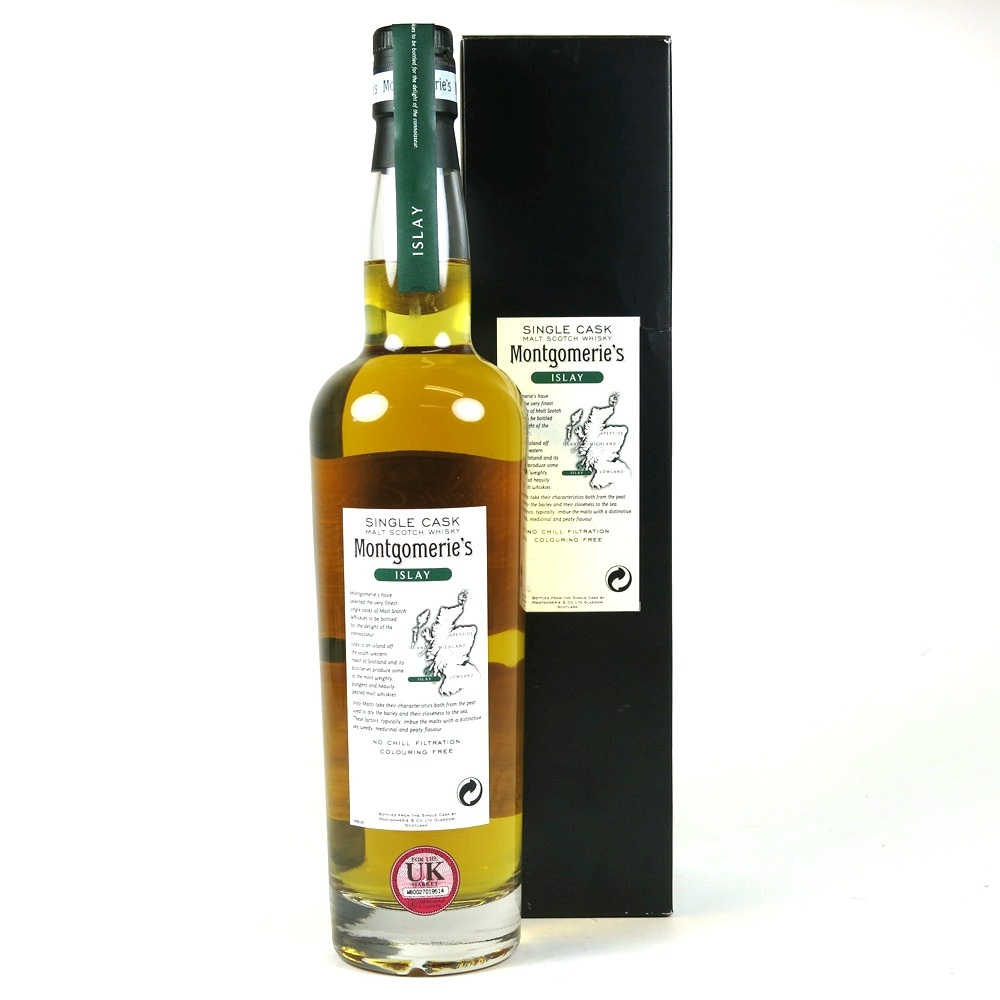 Bowmore 1984 Montgomerie's Select 25 Year Old back