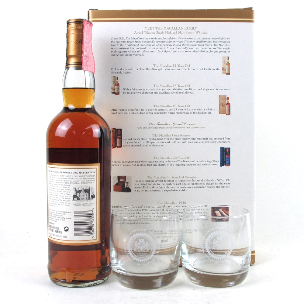 Macallan 7 Year Old Gift Set / Including 2 Glasses
