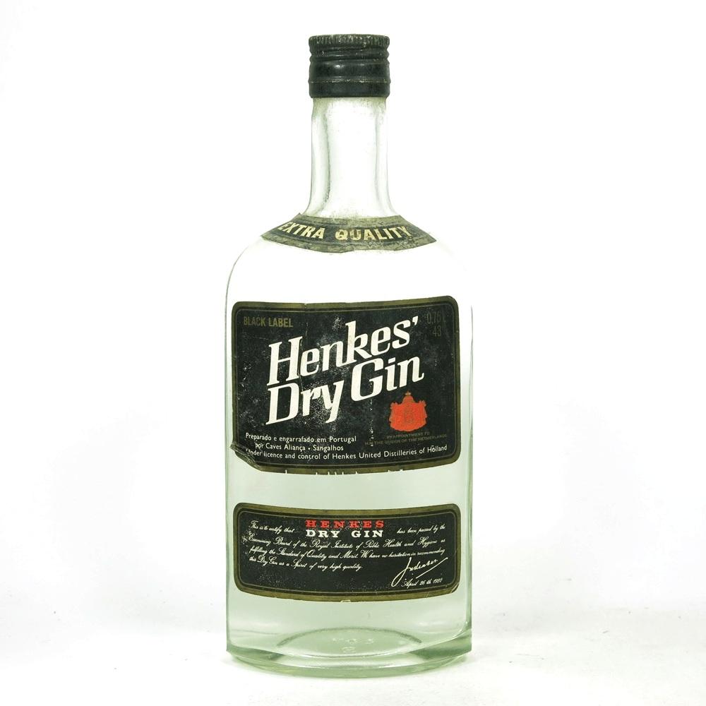 Henkes Black Label Dry Gin Circa 1980s