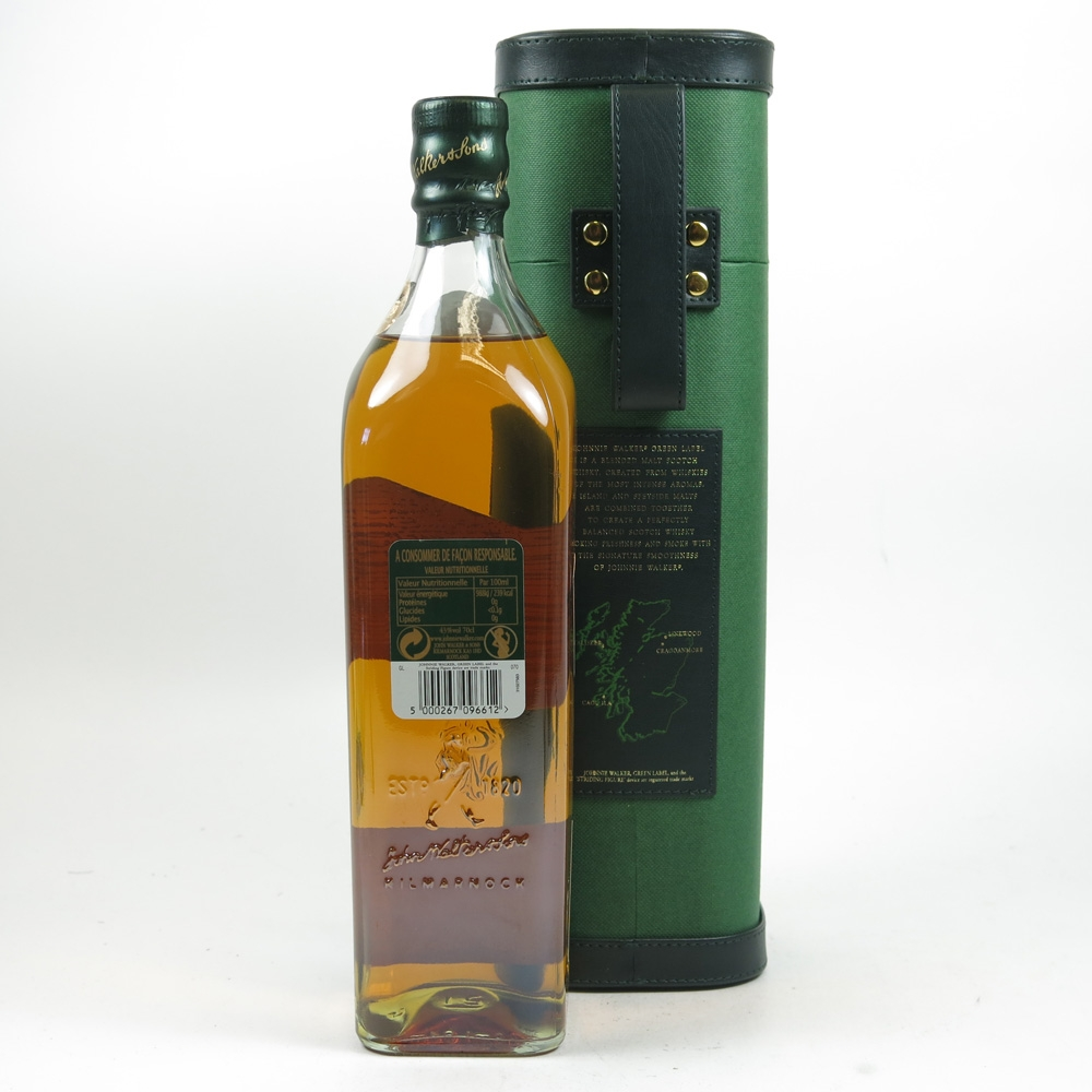 Johnnie Walker Green Label 15 Year Old Back
