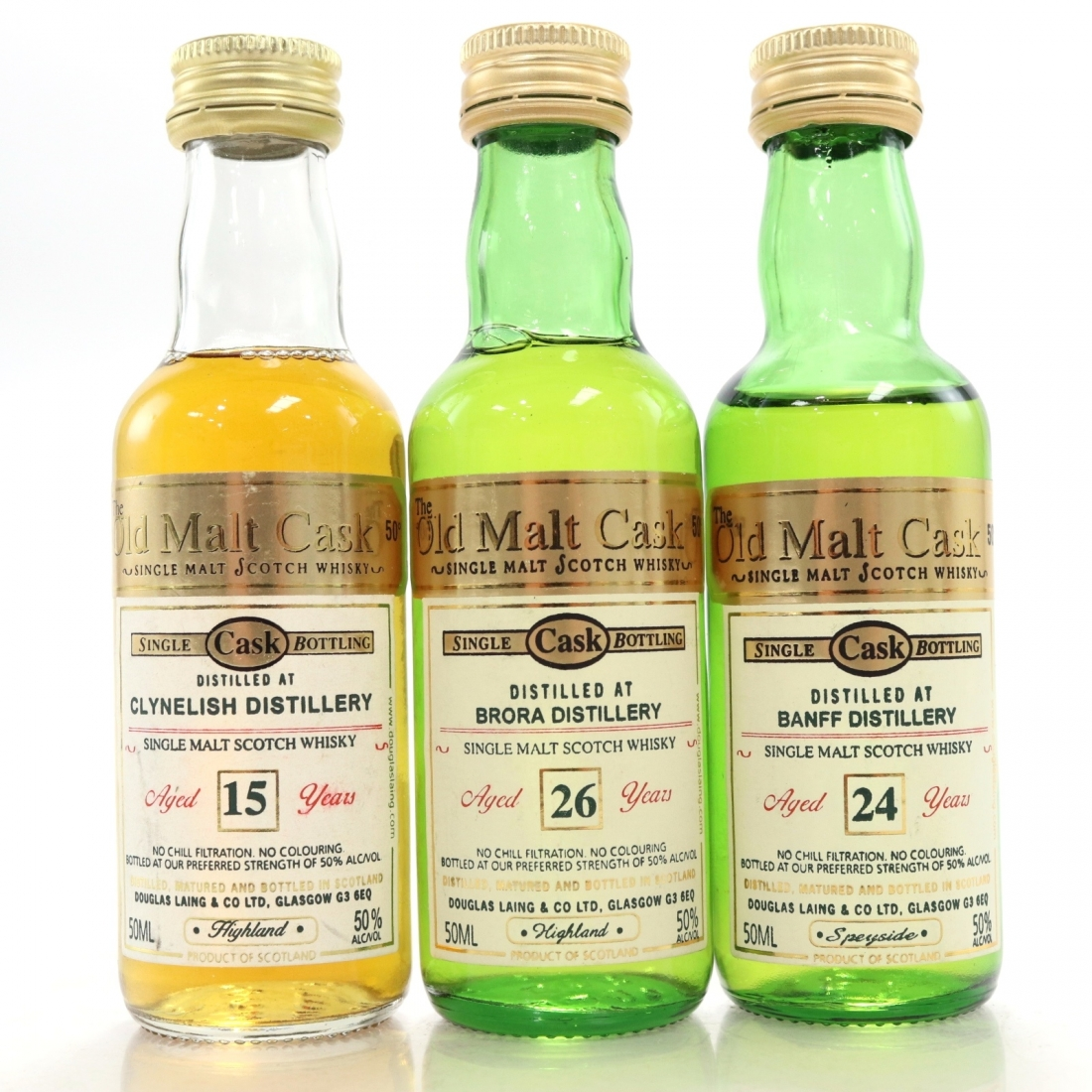 Douglas Laing Miniature Selection 3 x 5cl / includes Brora 26 Year Old