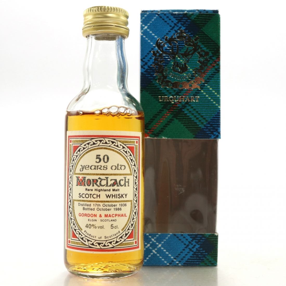 Mortlach 1936 Gordon and MacPhail 50 Year Old Miniature 5cl