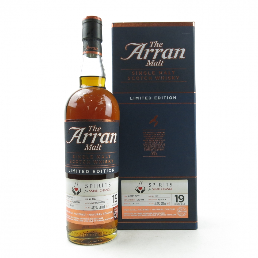 Arran 1996 Single Cask 19 Year Old / Spirits for Small Change