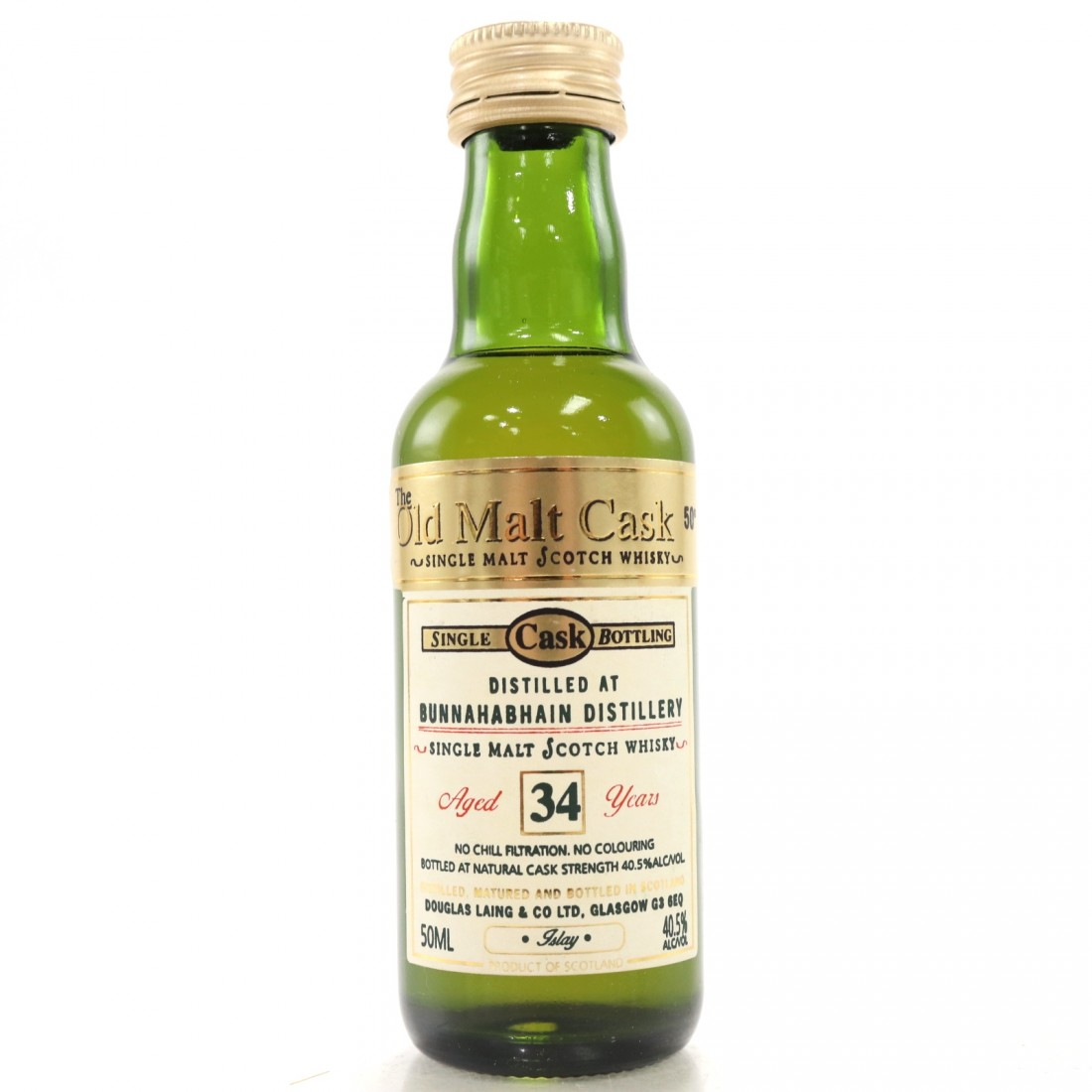 Bunnahabhain 34 Year Old Douglas Laing Miniature 5cl