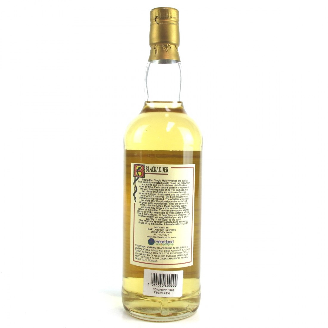 Bowmore 1989 Blackadder 10 Year Old 75cl / US Import
