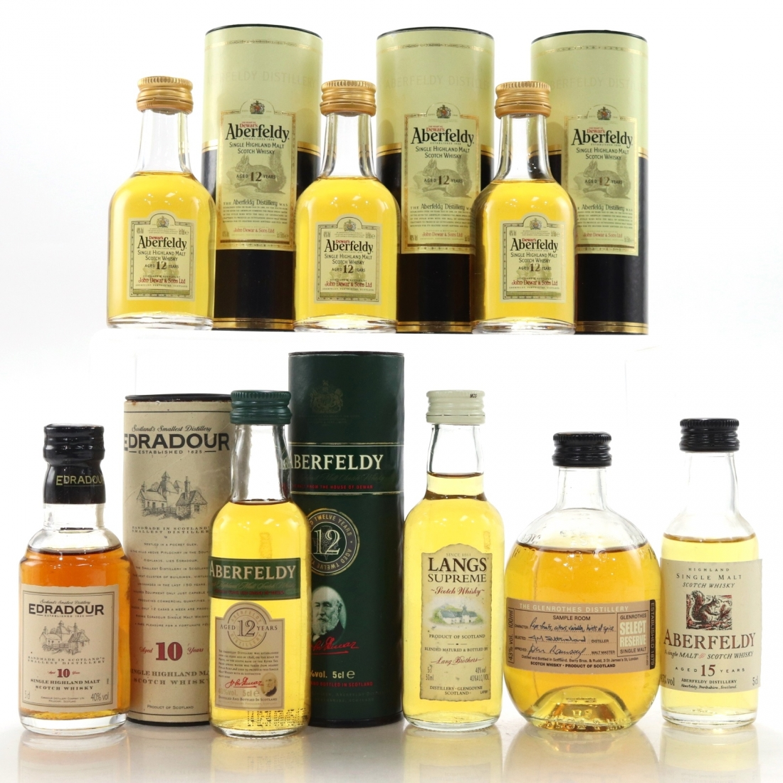 Whisky Miniature Selection / Including Aberfeldy 15 Year Old