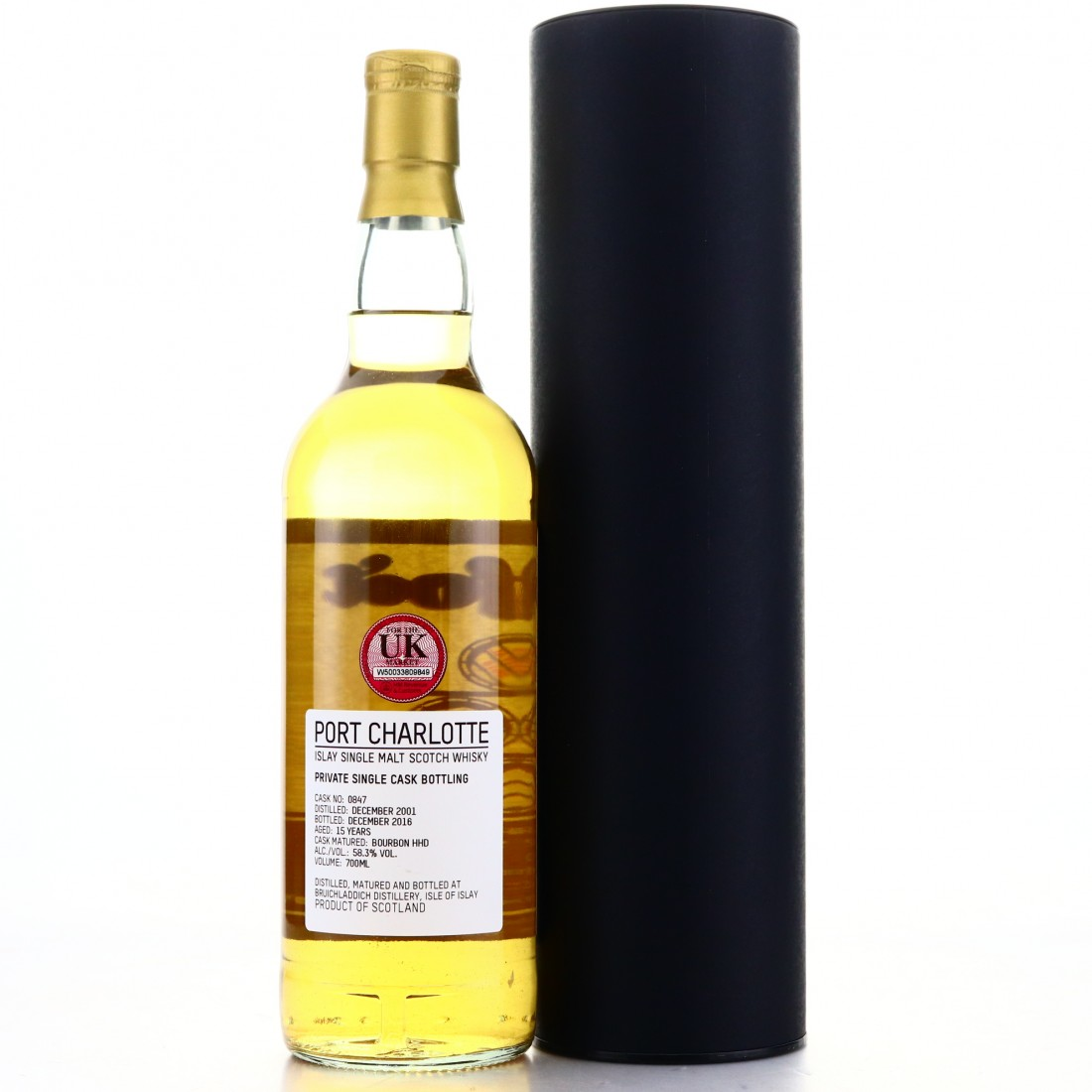 Port Charlotte 2001 Private Cask 15 Year Old
