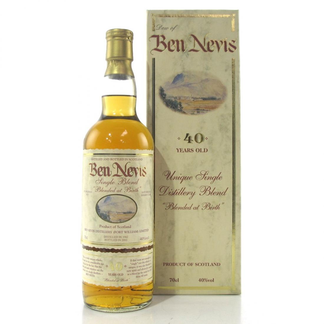 Ben Nevis 1962 Single Blend 40 Year Old