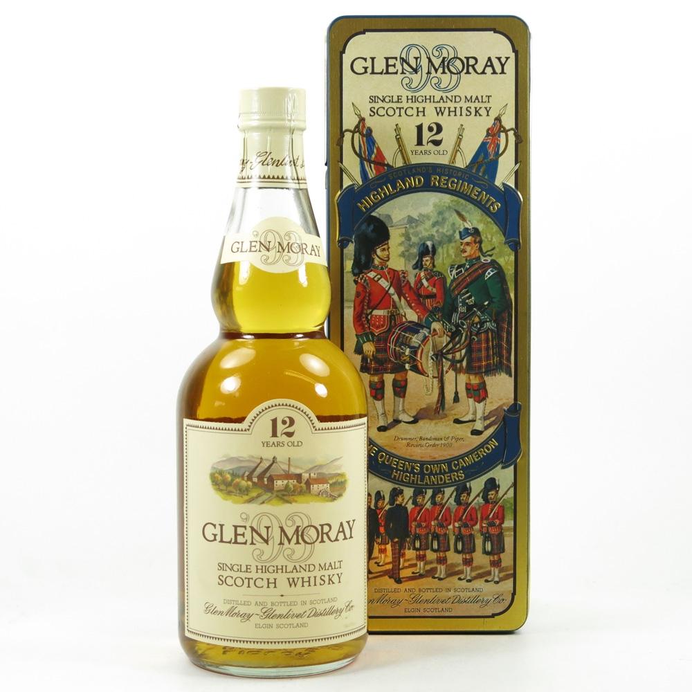 Glen Moray 12 Year Old Queen's Own Cameron Highlanders Tin