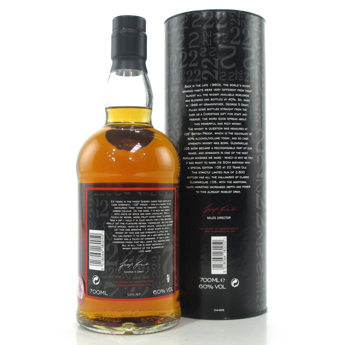 Glenfarclas 105 Cask Strength 22 Year Old / 50th Anniversary