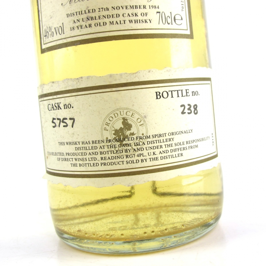 Caol Ila 1984 First Cask 18 Year Old