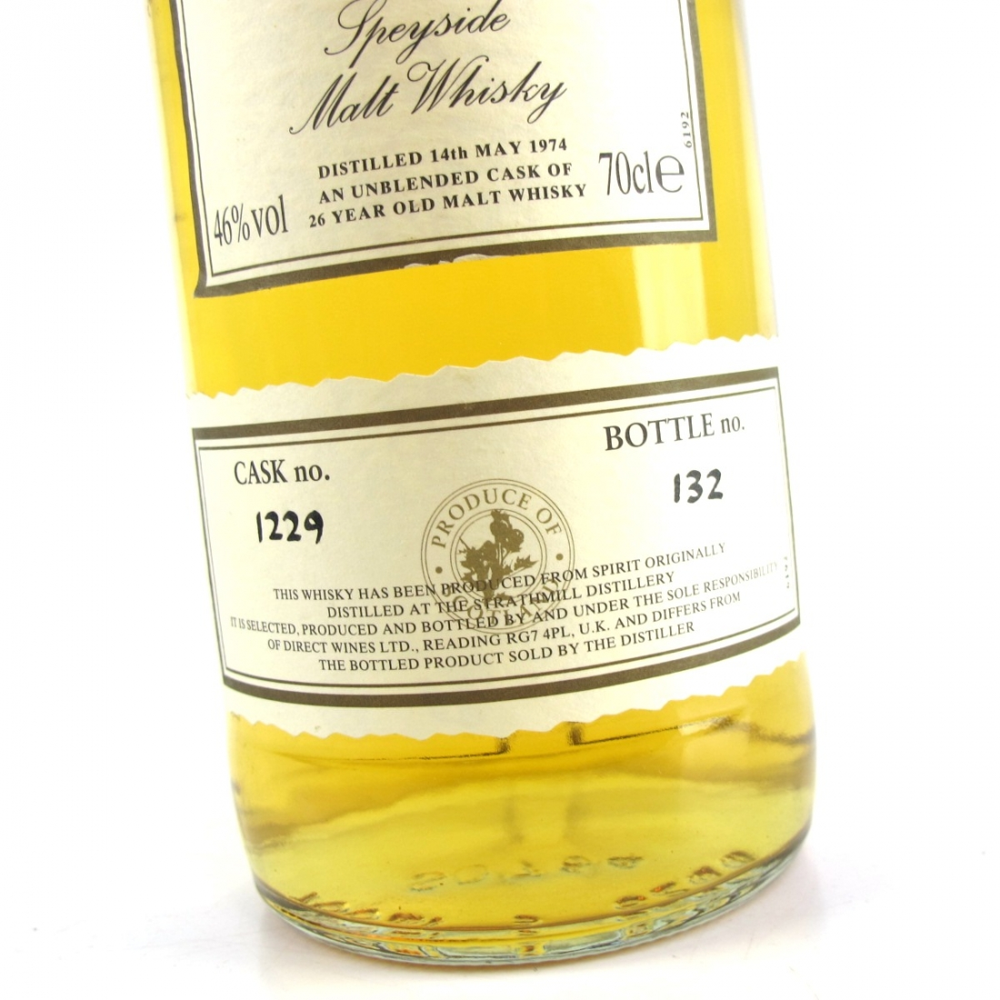 Strathmill 1974 First Cask 26 Year Old