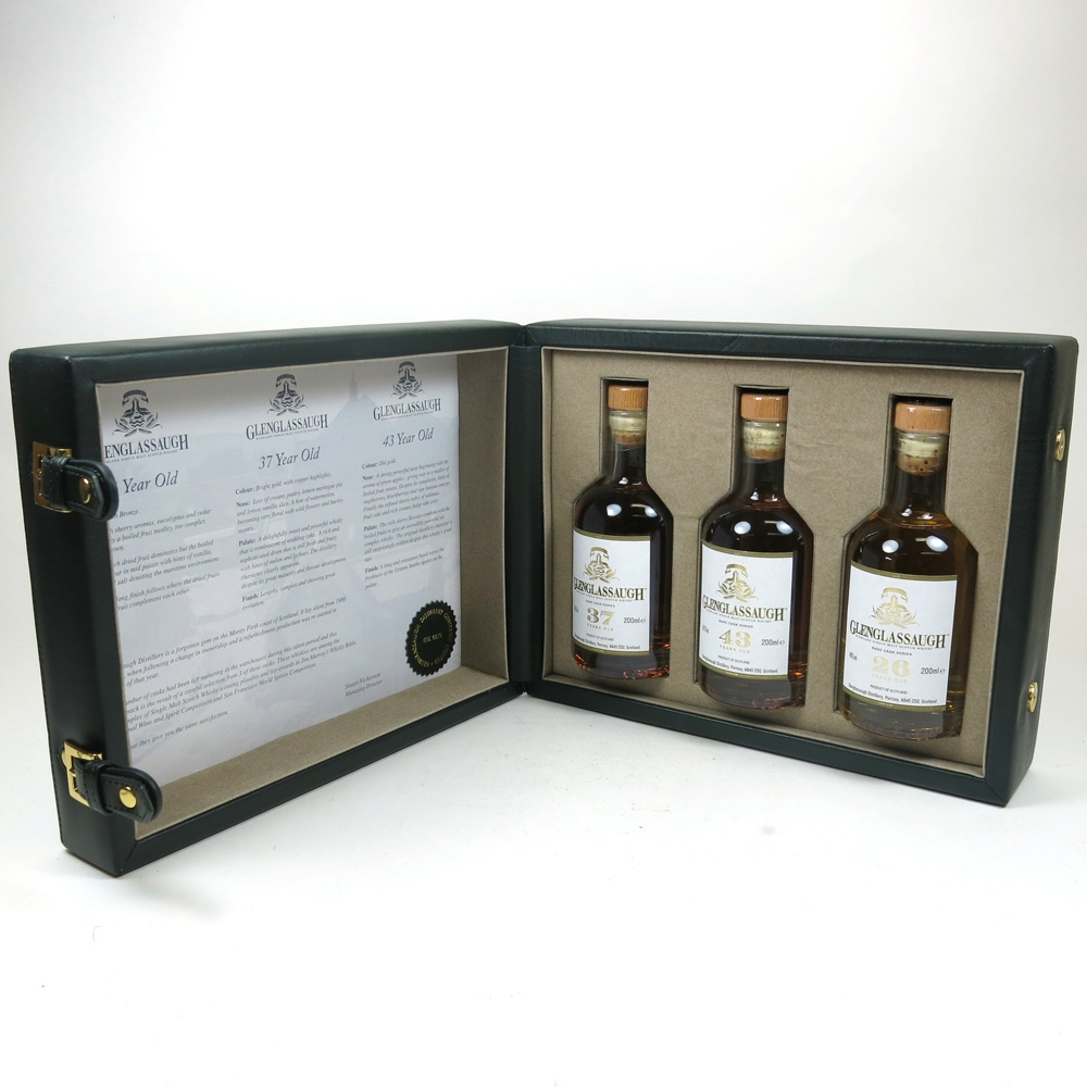 Glenglassaugh Rare Cask Gift Set / 26, 37 and 43 Years Old 3 x 20cl