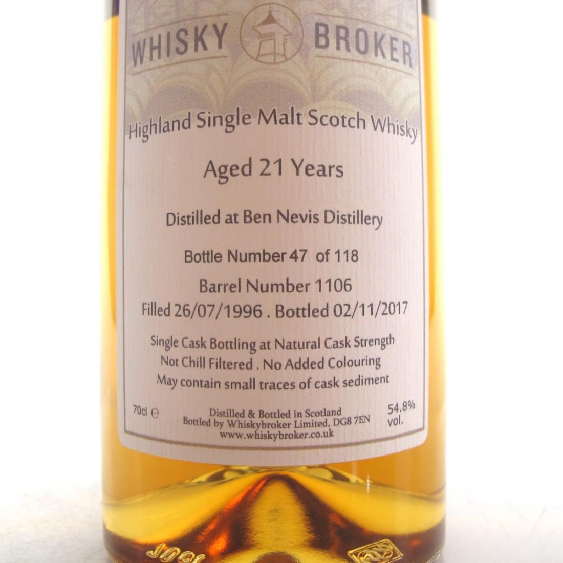 Ben Nevis 1996 Whisky Broker 21 Year Old
