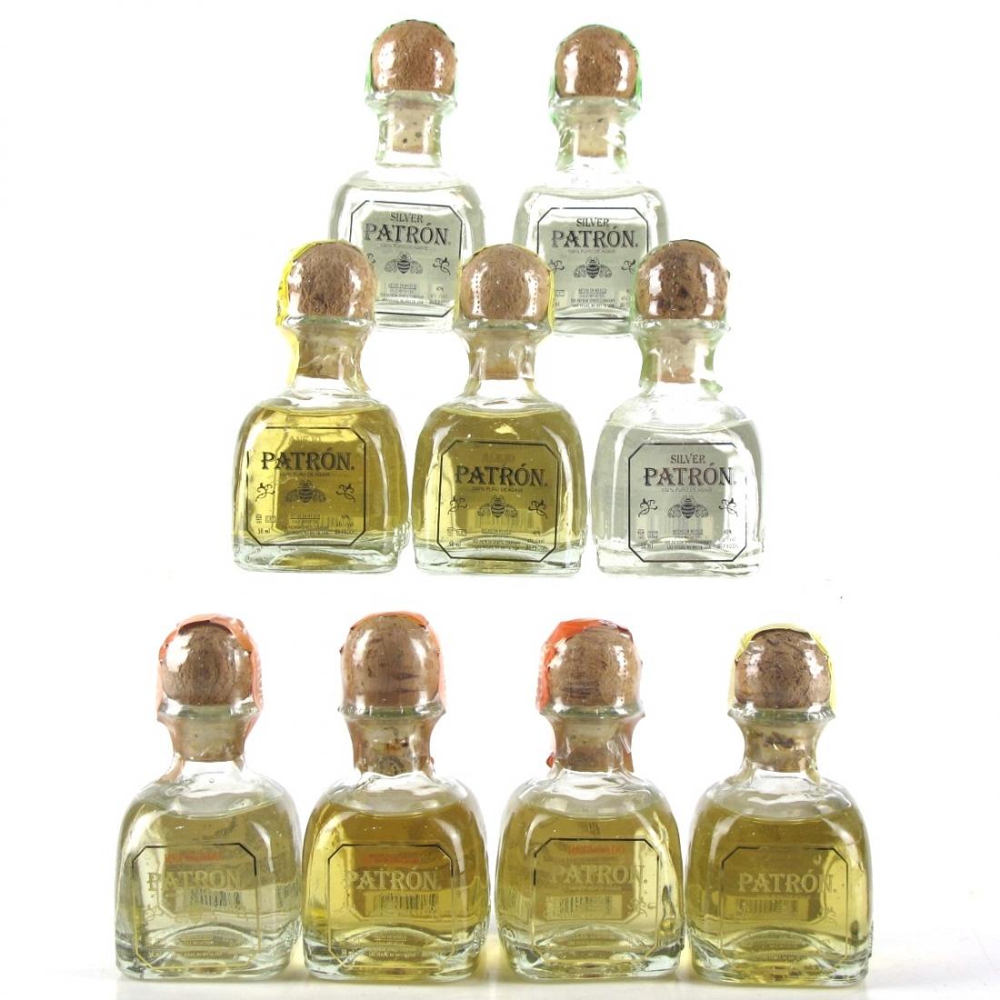 Patron Tequila Miniature collection 9 x 5cl