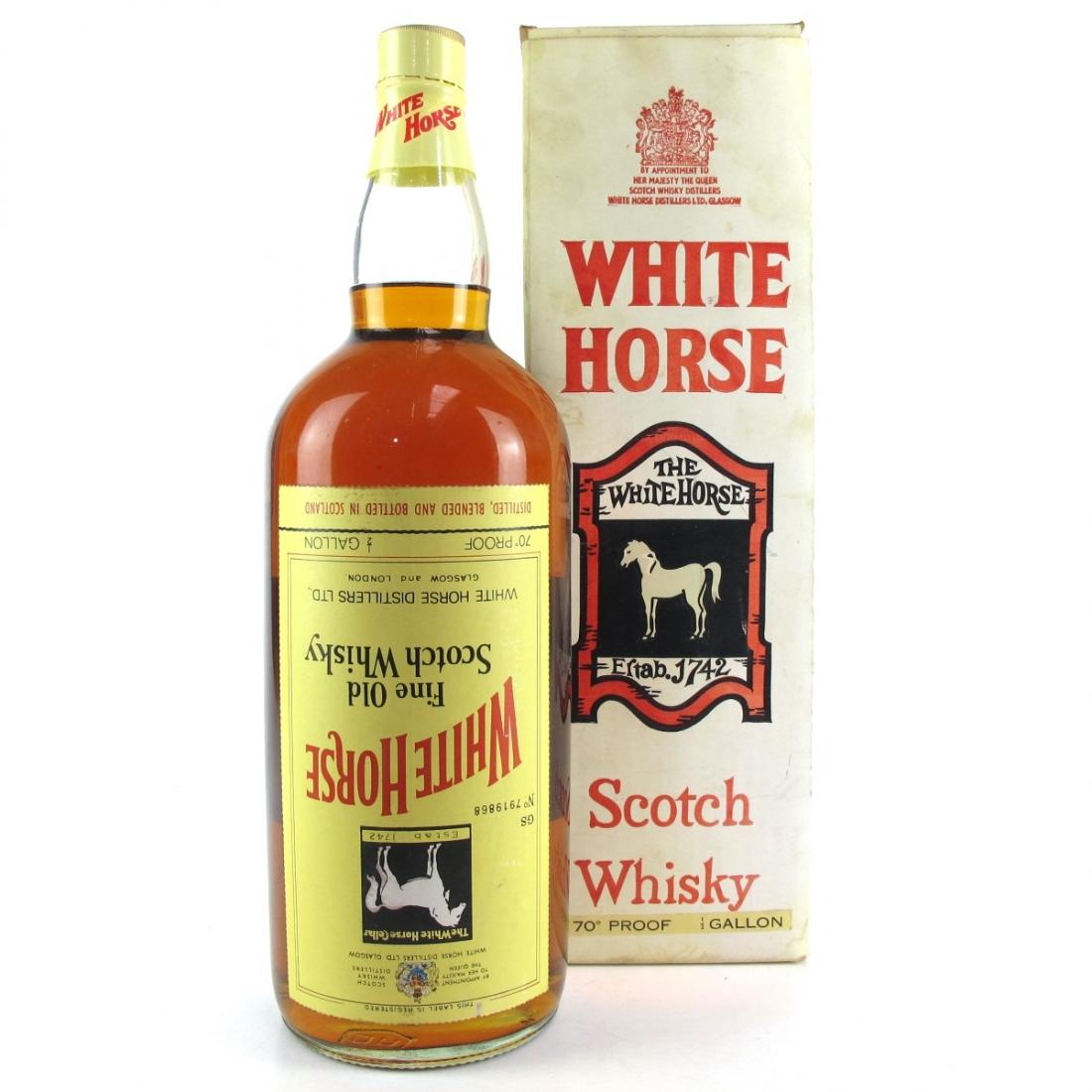 White Horse 1970s 1/2 Gallon