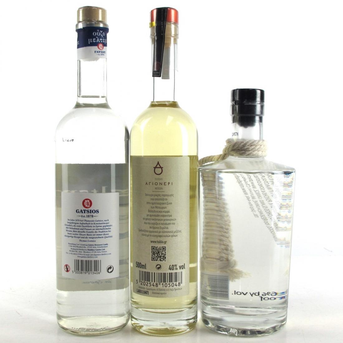 Greek Liqueur Selection x 3
