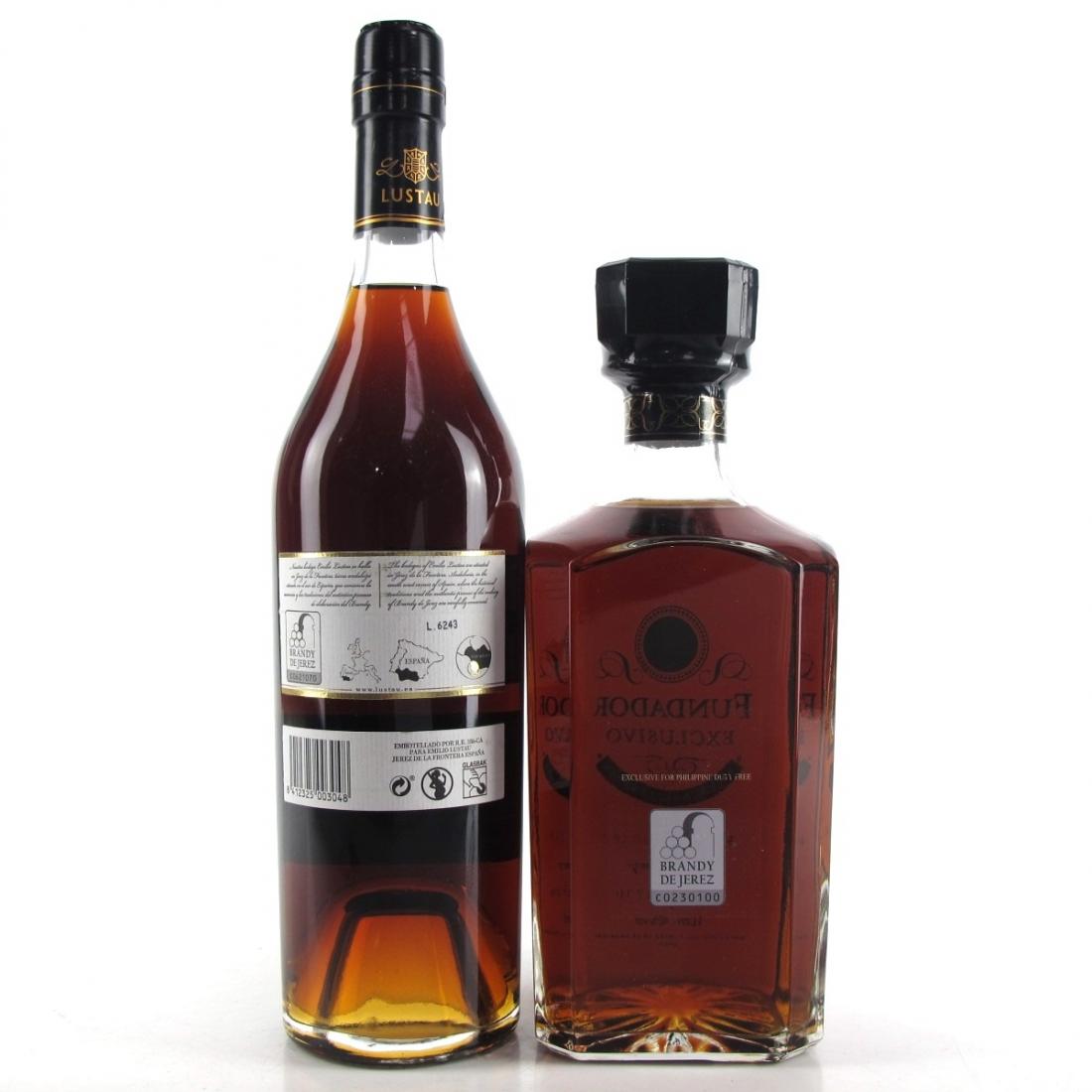 Spanish Brandy Selection x 2 / Including Fundador Exclusivo Solera Gran Reserva