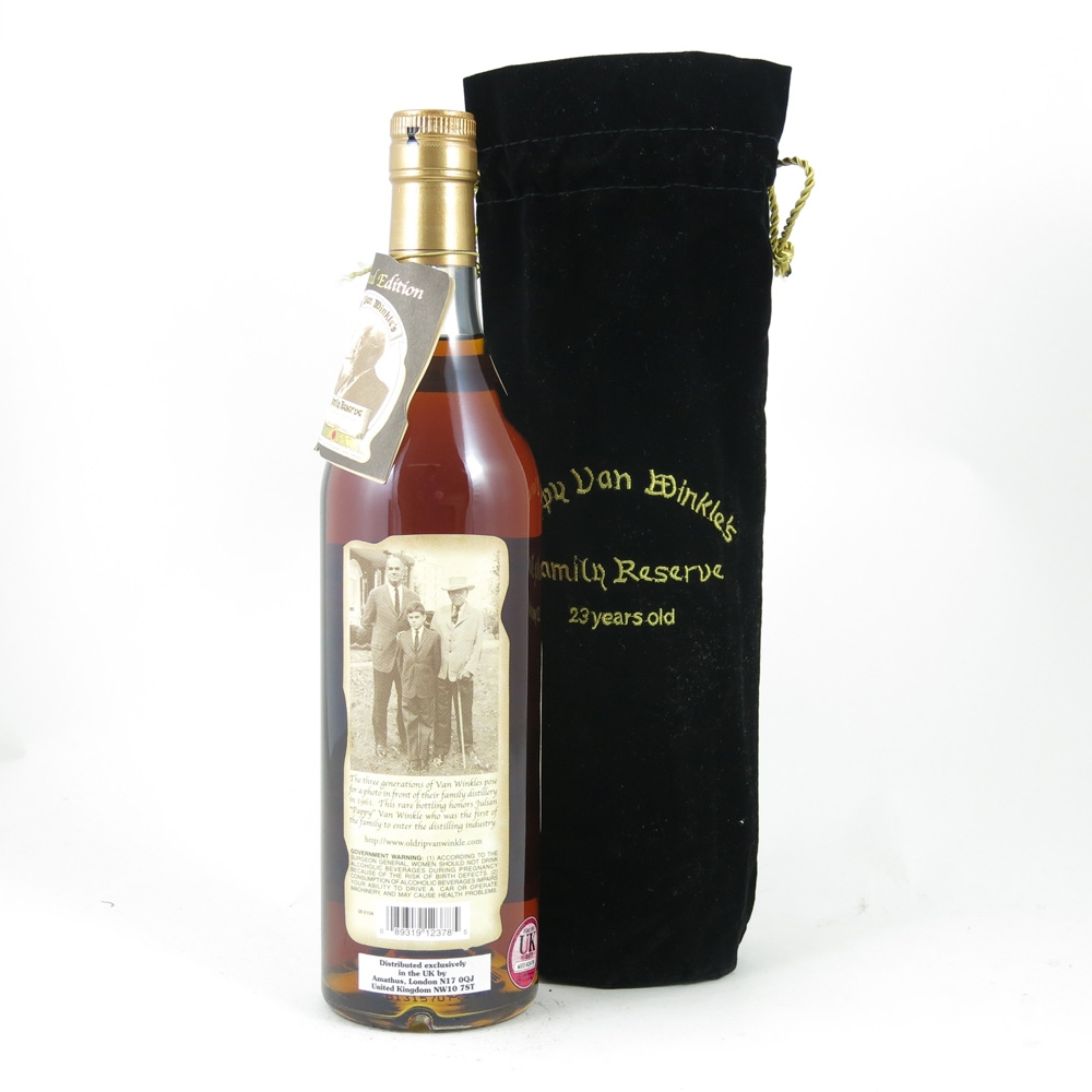 Pappy Van Winkle Family Reserve 23 Year Old back