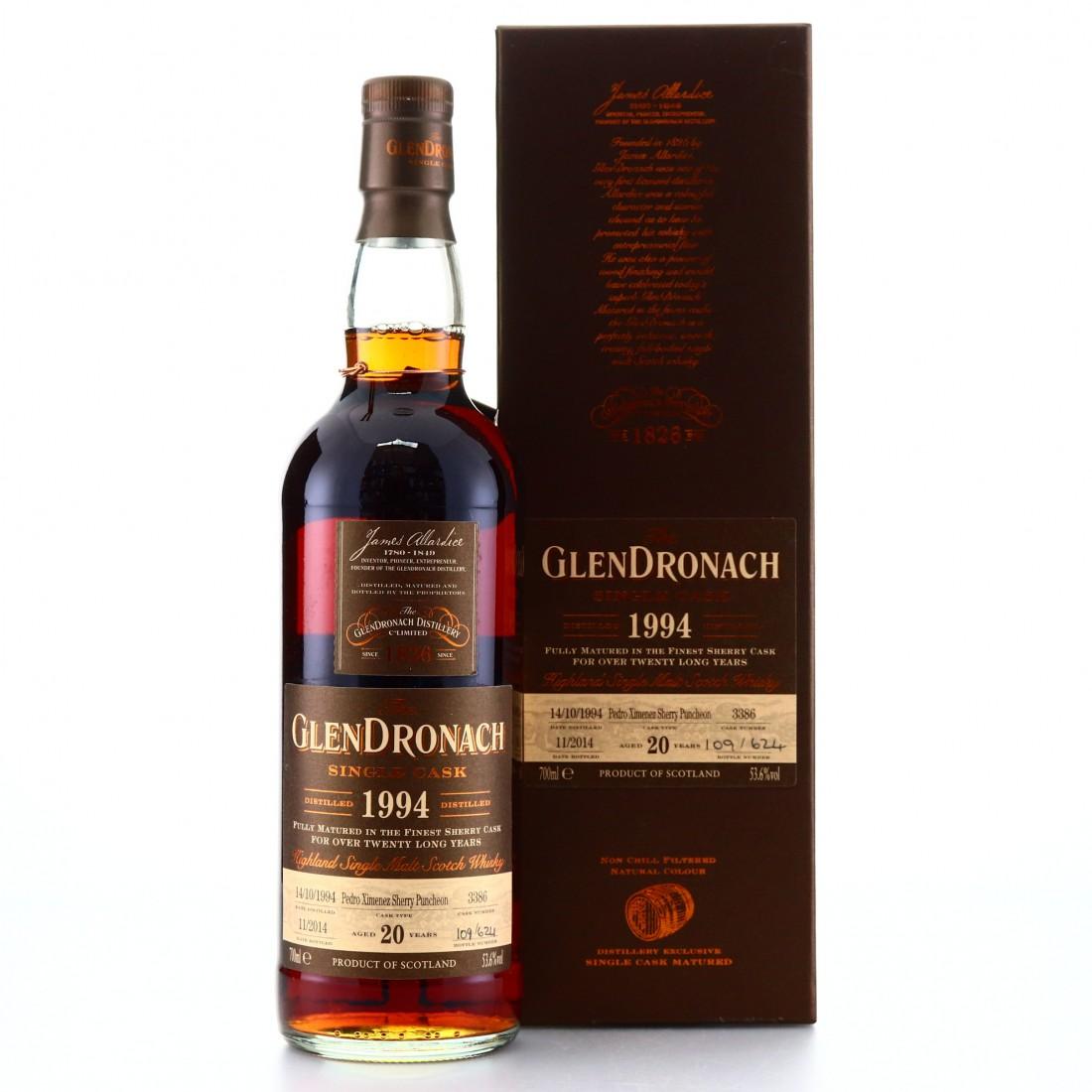 Glendronach 1994 Single Cask 20 Year Old #3386