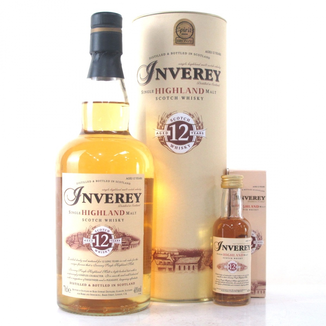 Inverey 12 Year Old Highland Single Malt / with Miniature 5cl