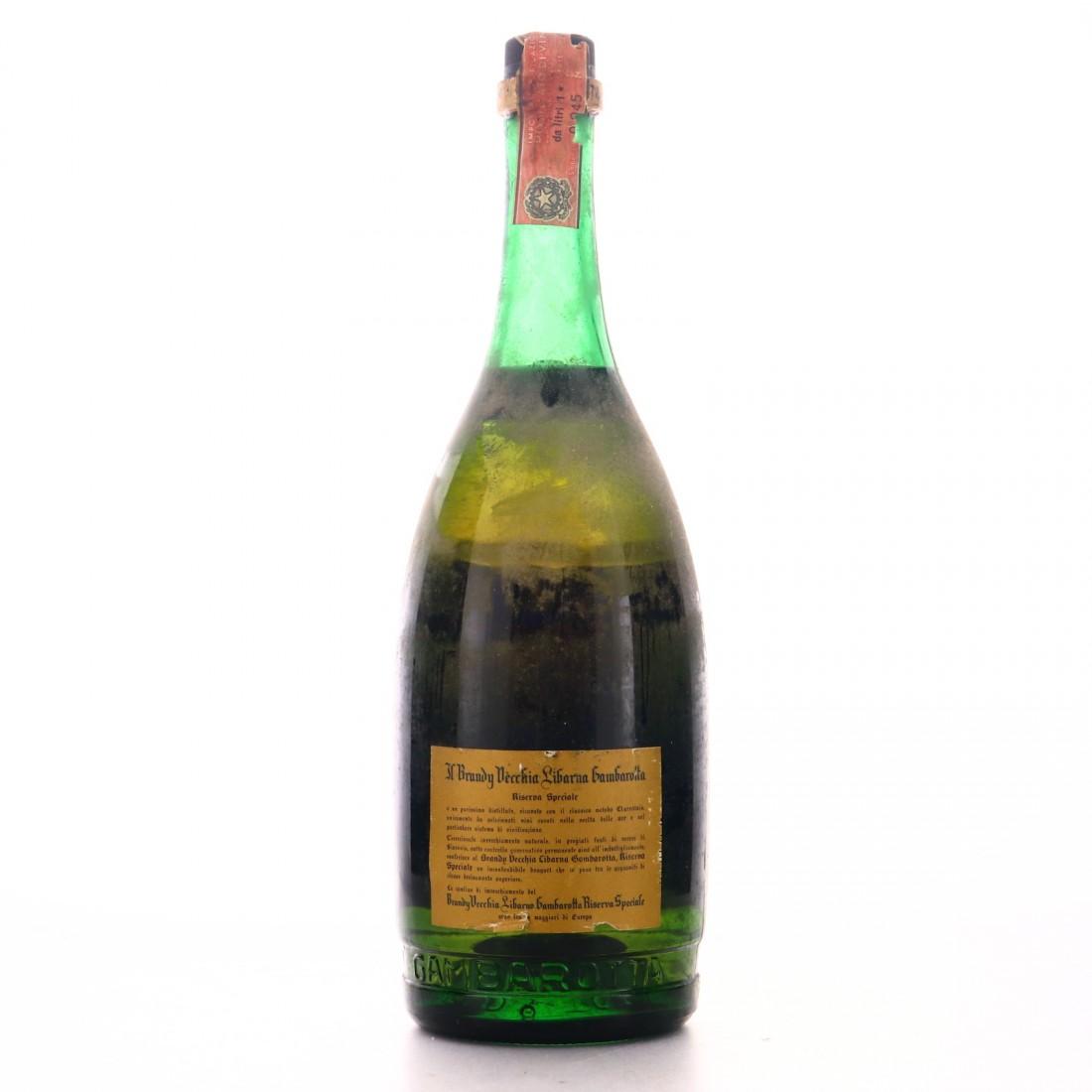 Gambartotta Brandy Vecchia 1 Litre 1970s
