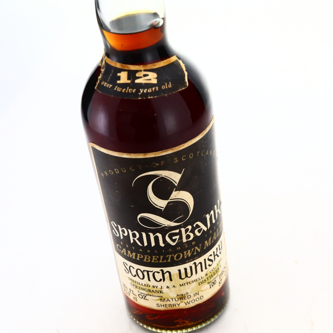 Springbank 12 Year Old Sherry Wood 100 Proof 1970s