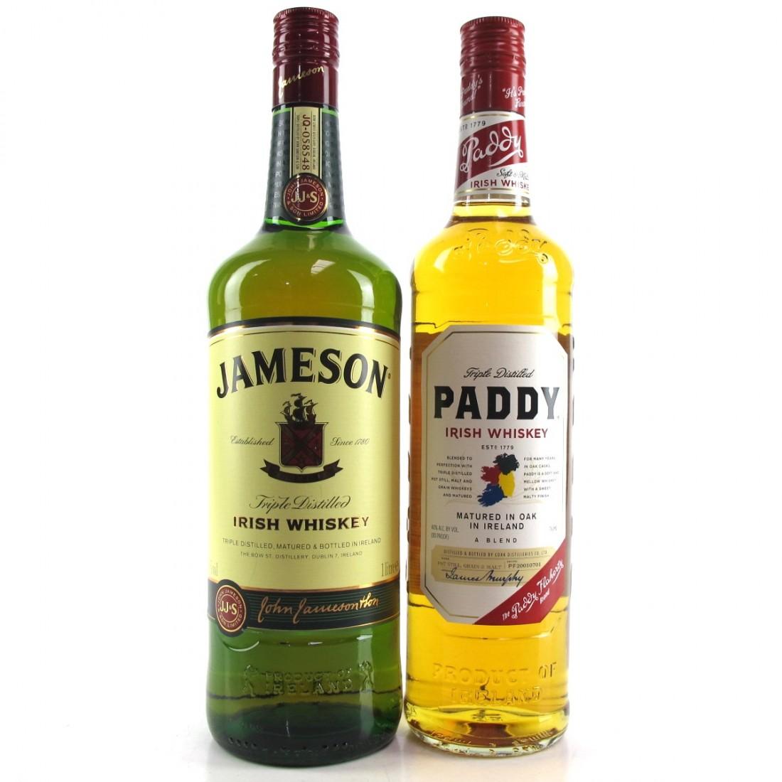 Irish Whiskey Selection x 2 / Including Jameson 1 Litre