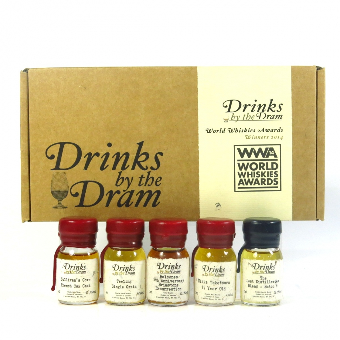 Drinks by the Dram World Whisky Awards 2014 Miniatures 5 x 3cl