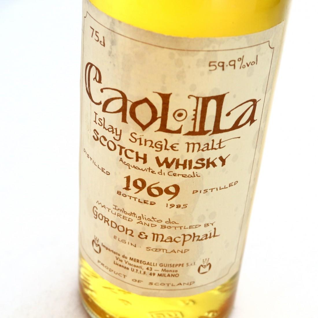 Caol Ila 1969 Gordon and MacPhail Cask Strength Celtic Label / Meregalli Import
