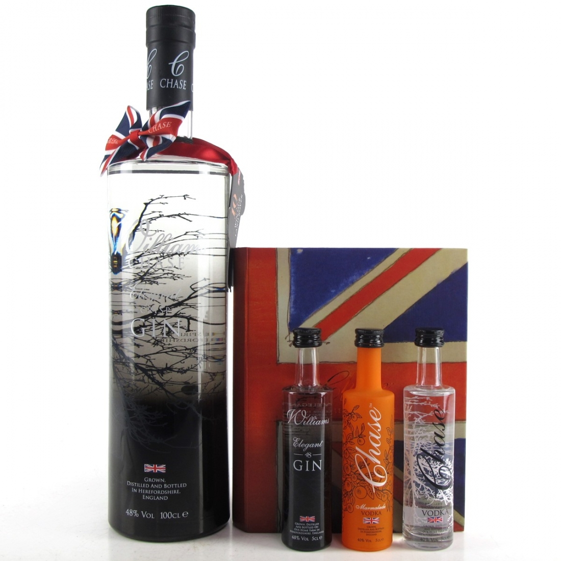 Williams Chase Gin 1 Litre / Including Gift Set 3 x 5cl