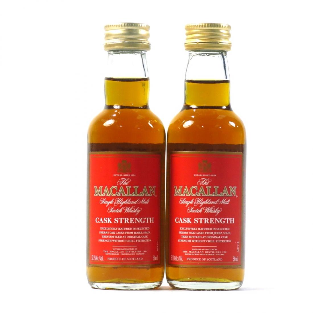 Macallan Cask Strength Miniature 2 x 5cl / US Import