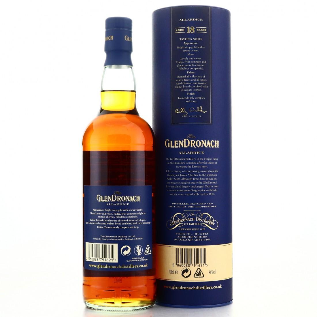 Glendronach 18 Year Old Allardice / 2016 Release