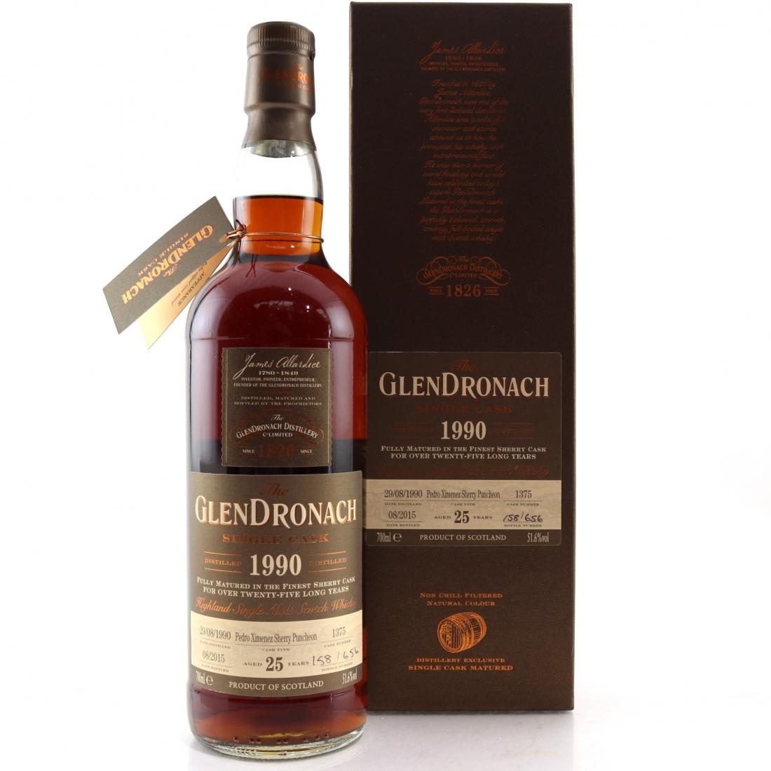 Glendronach 1990 25 Year Old Single Cask #1375