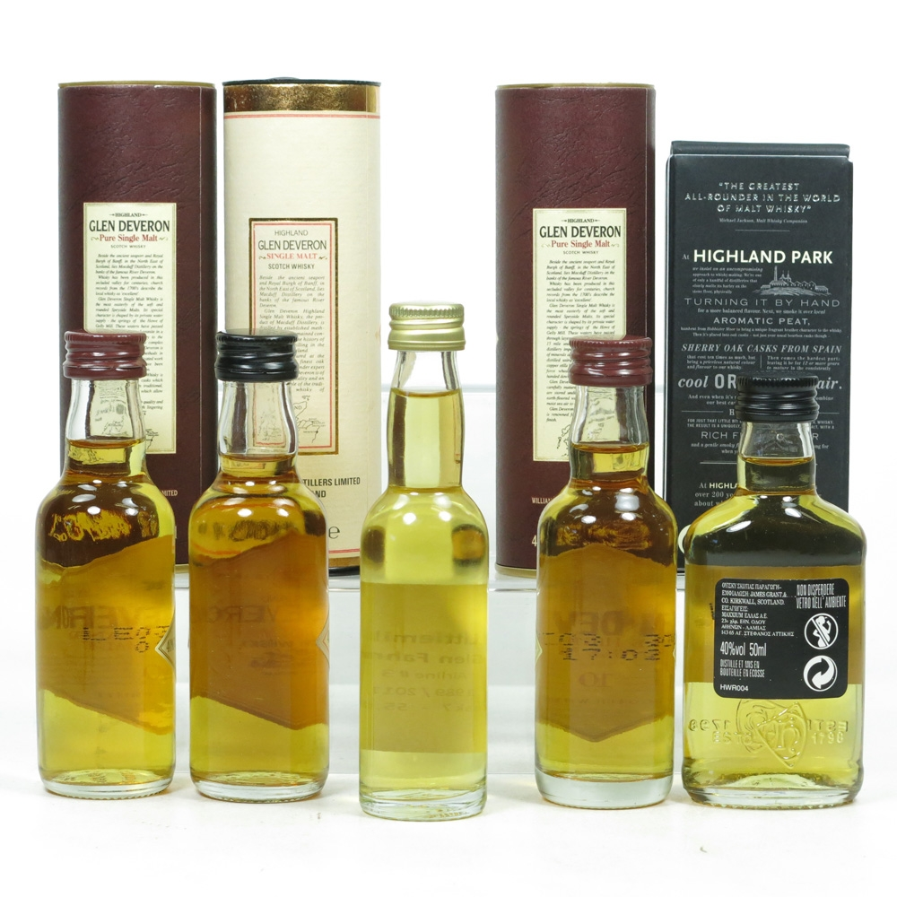 Miniature Selection including Littlemill 5x 5cl