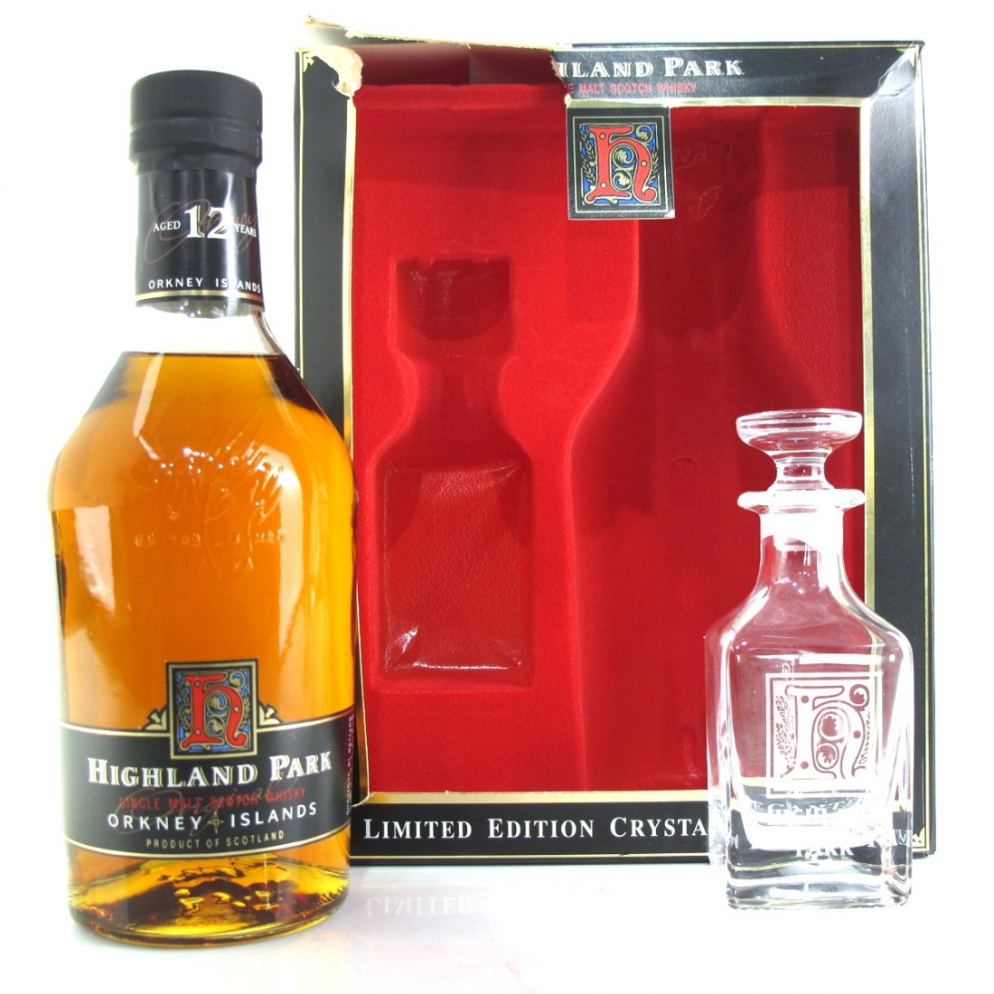 Highland Park 12 Year Old and Decanter Gift Set