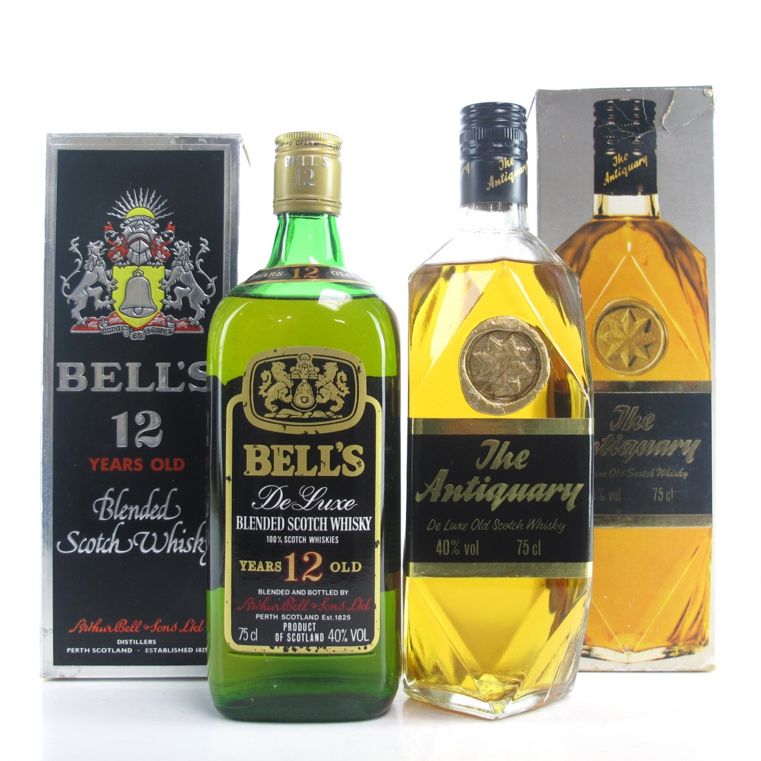 Blended Scotch Selection 2 x 75cl / Including Antiquary 1980s