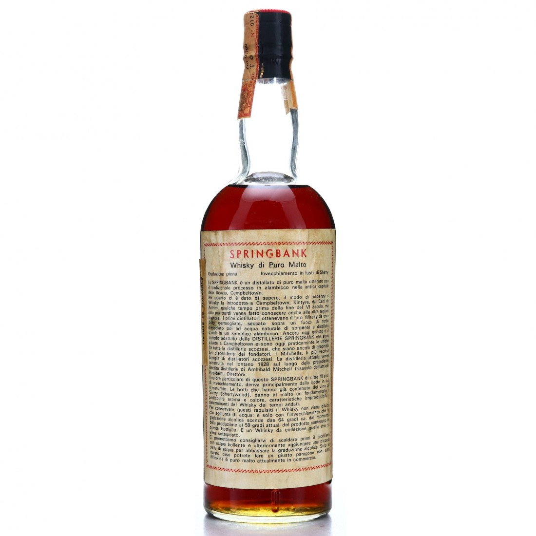 Springbank 1967 Single Cask 10 Year Old #3129 / A. Sutti Import