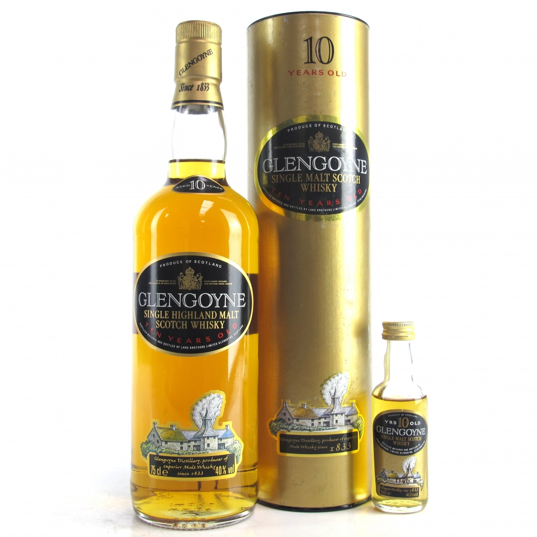 Glengoyne 10 Year Old 1980s / Including Matching Miniature