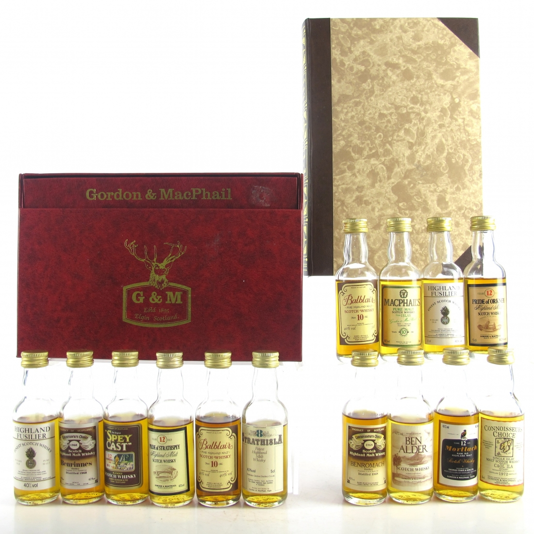 Gordon and MacPhail Miniature Gift Sets x 2 / 14 x 5cl