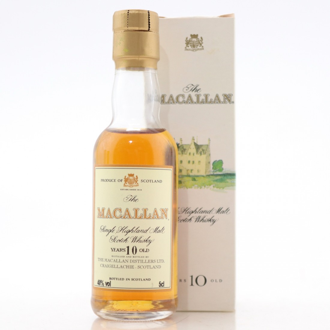 Macallan 10 Year Old Miniature 5cl 1990s