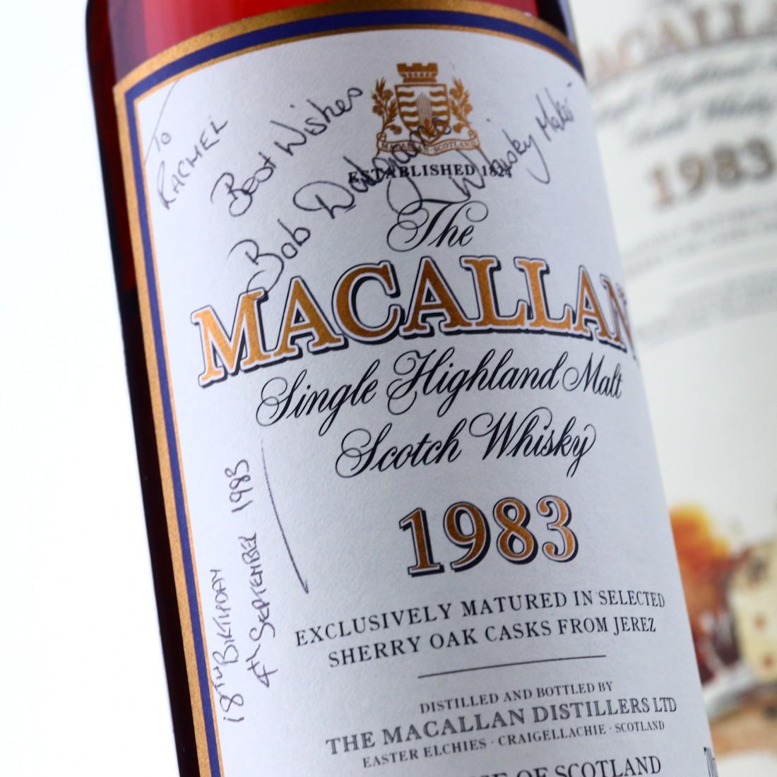 Macallan 1983 18 Year Old / Signed by Bob Dalgarno