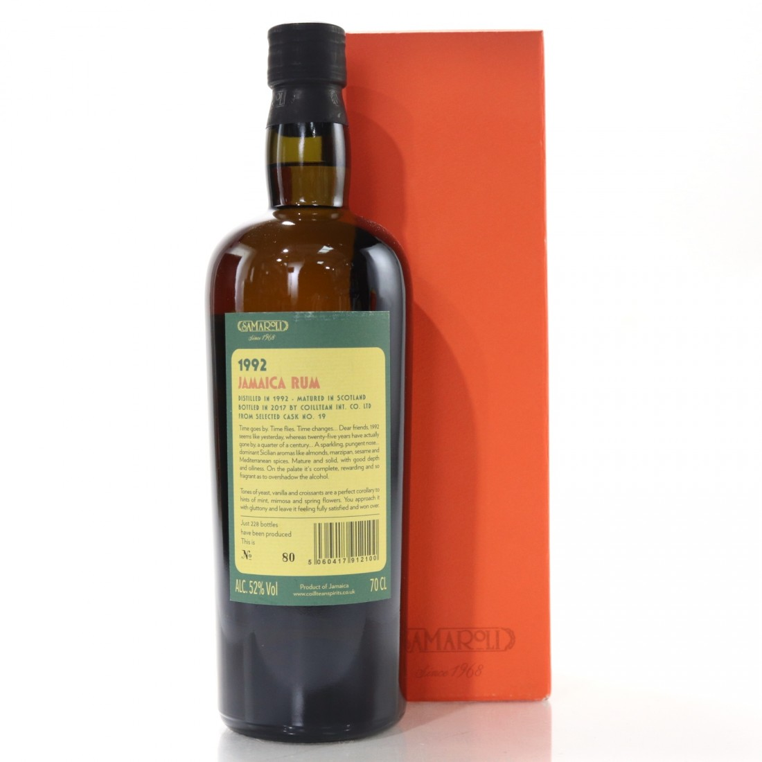 Jamaica Rum 1992 Samaroli Single Cask