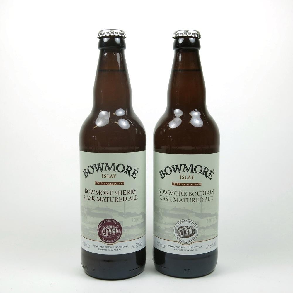 Bowmore Bourbon and Shery Cask Ale Feis Ile 2015 Islay Ales x 2