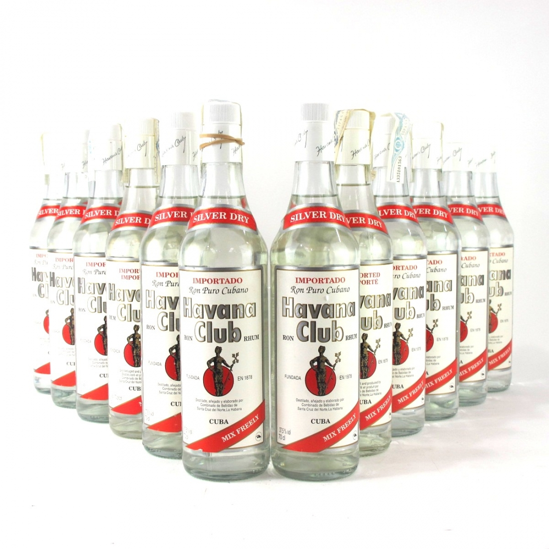 Havana Club Silver Dry Rum x 12
