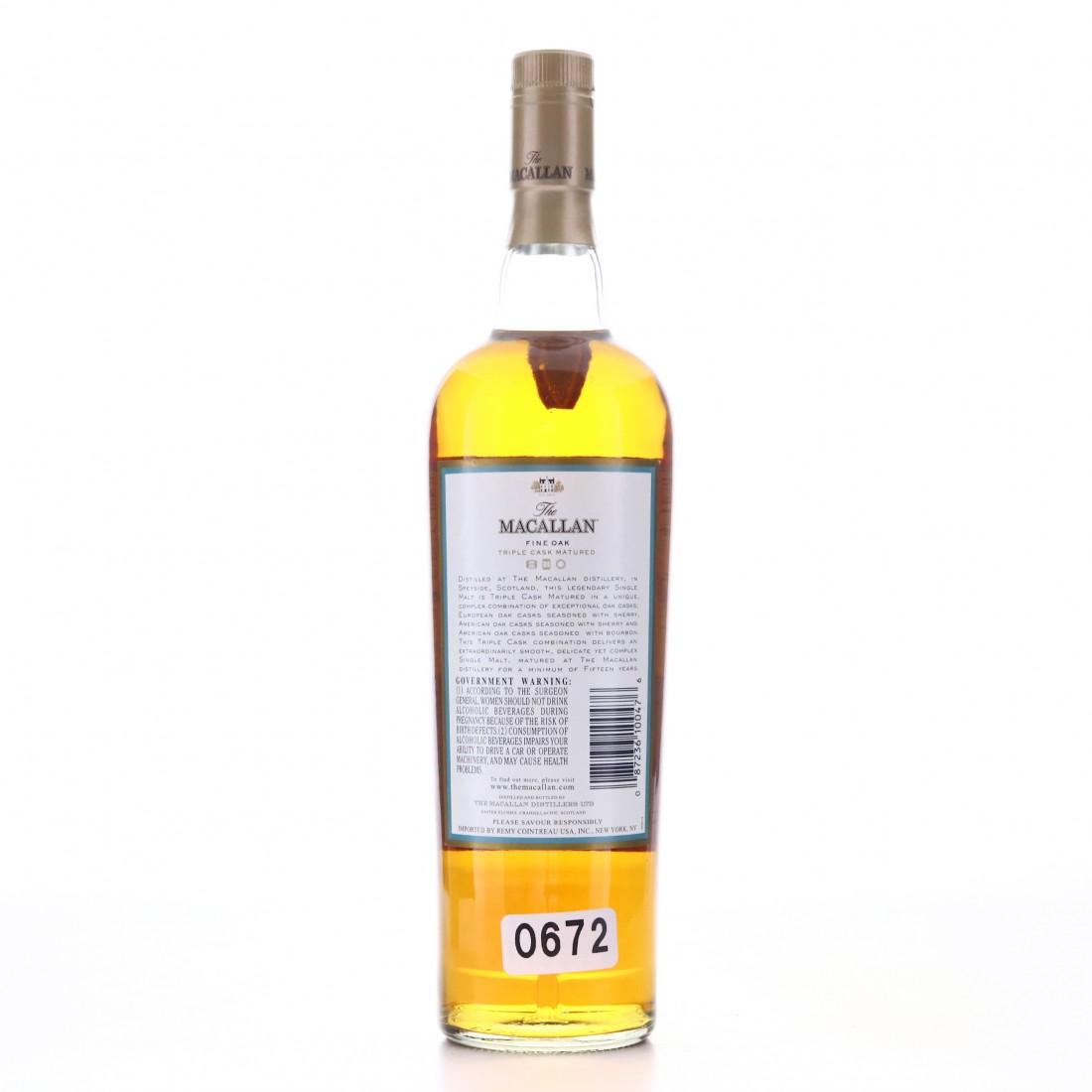 Macallan 15 Year Old Fine Oak 75cl / US Import