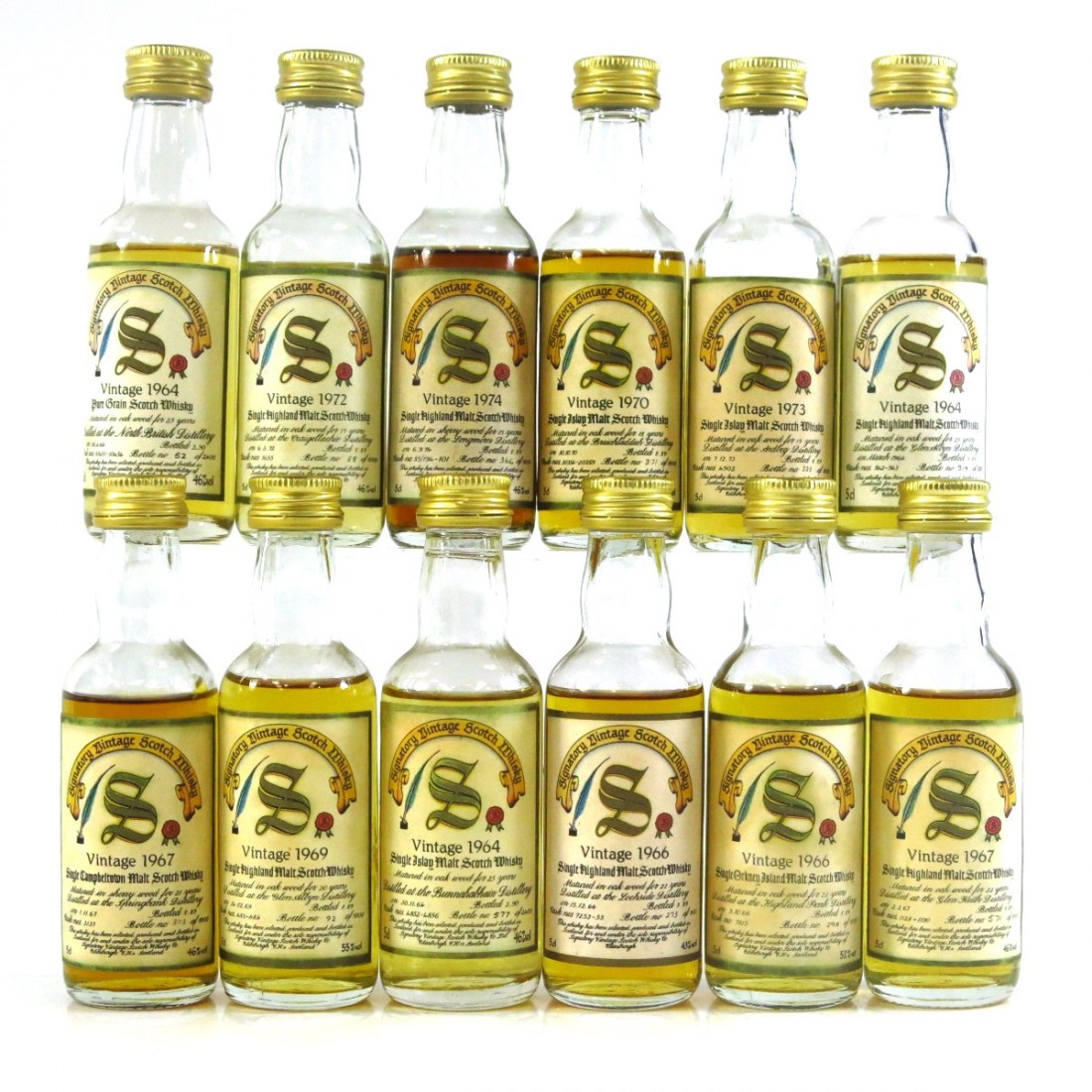 Signatory Vintage Miniature Selection 12 x 5cl