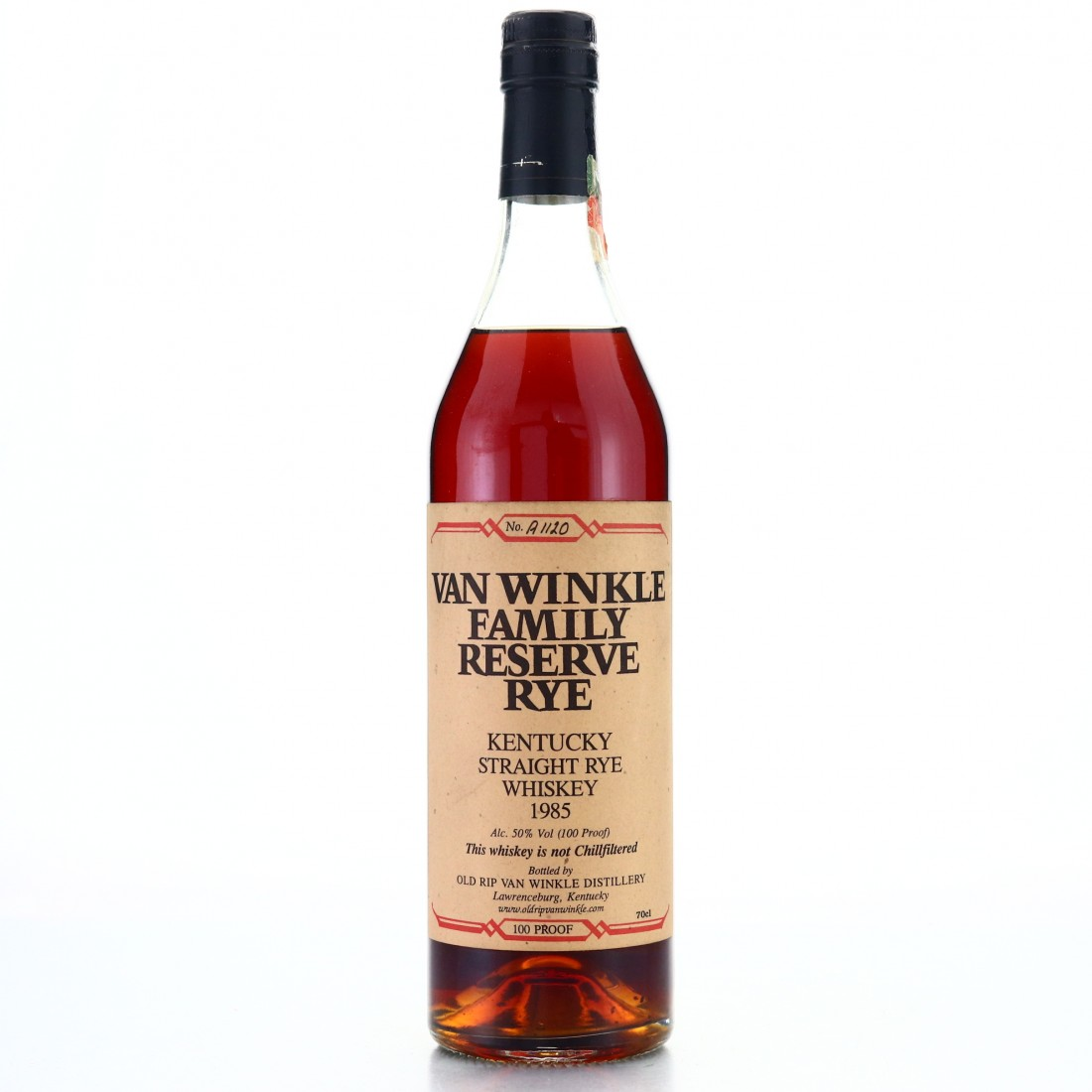 Van Winkle 1985 Family Reserve Rye / Un-Chillfiltered European Exclusive